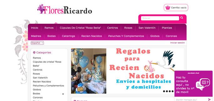 Tienda Virtual para floristería de Sevilla