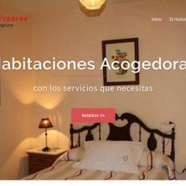 página web desarrollada para Hostal bar Francés de Guillena - DGsys