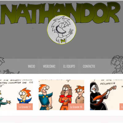 Muestra de Nathandor, diseñ web por DGsys